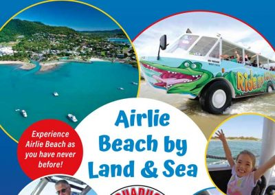 brochure front page for aquaduck airlie beach