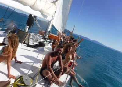 sailing on freight train whitsundays