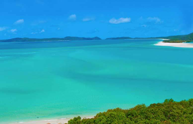 picture taken from hill inlet look out whitehaven beach