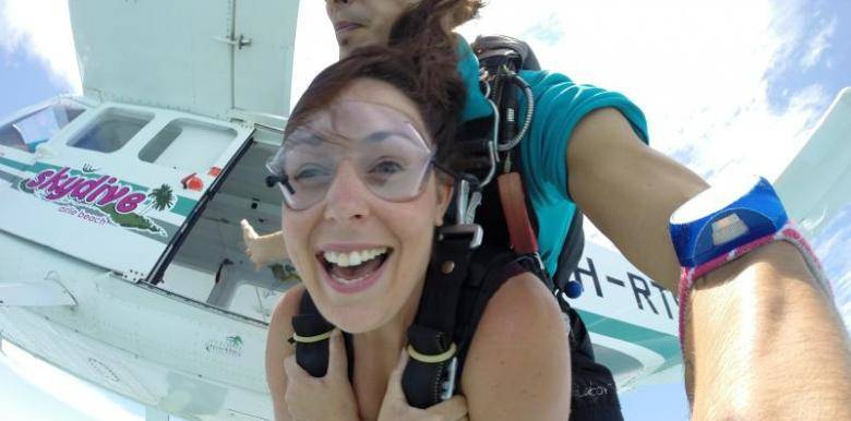 that face you make once you jump from the plane