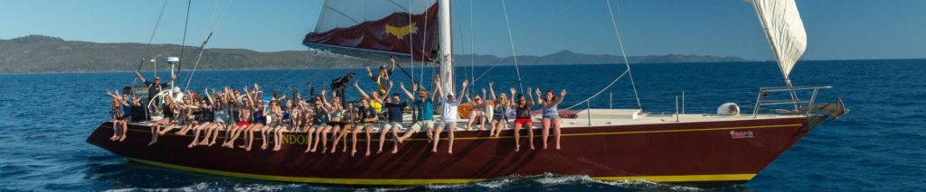 Happy guests sailing on Condor Whitsundays