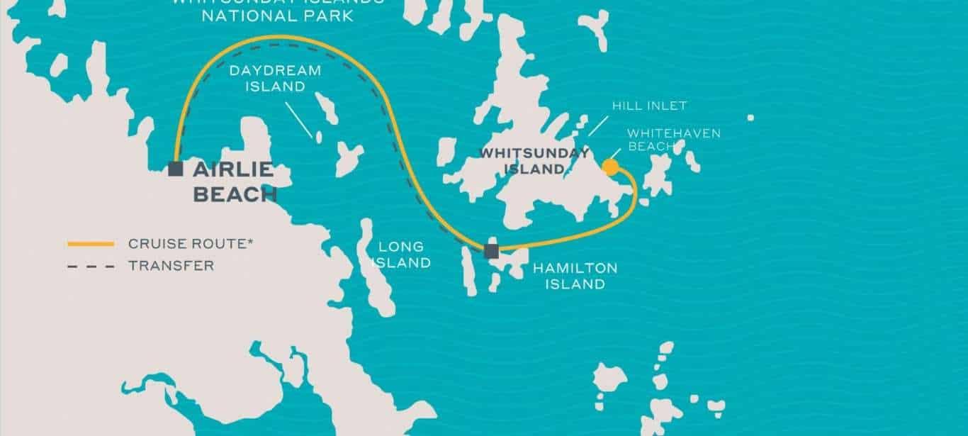 Whitehaven Beach Half Day Tour map
