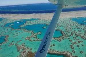 heart reef from a Whitsundays scenic flight