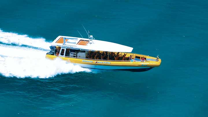 Fury Whitsundays going fast across the water