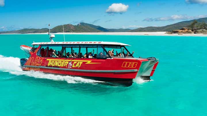 Thundercat day trip at Whitehaven Beach Whitsunday Islands